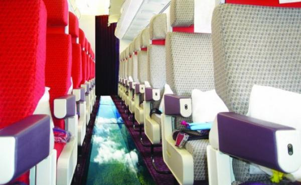 Plane With a Glass Floor!