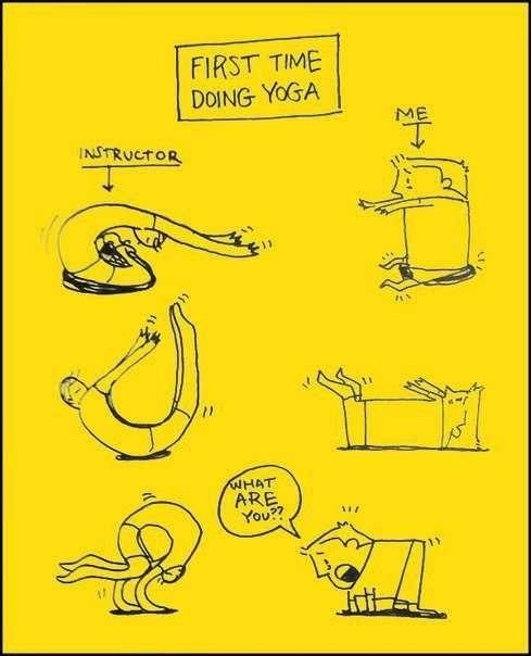 That's How I Spent My First Yoga Lessons