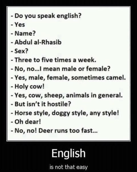English is Not That Easy. Be Literate!