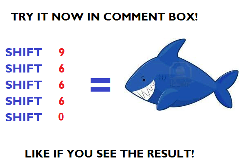 Shark Will Appear in Your Comments!