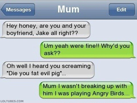 Every Time While Playing Angry Birds!