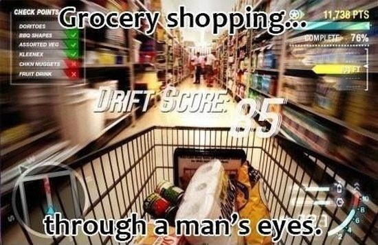 Real Men's Shopping!
