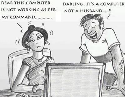 The Difference Between the Husband And the Computer!