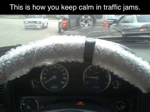 Here's How to Stay Calm in Traffic Jams!