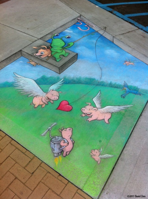 Playful And Creative Chalk Art - 15 Pics!
