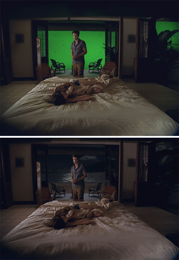 Filmmaking Before And After Visual Effects! 15 Pics!